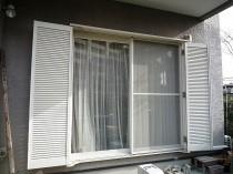 福岡市西区愛宕浜 雨戸リフォーム施工例 施工前