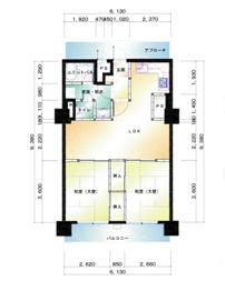 福岡市博多区祇園 リノベーション施工例 施工前図面