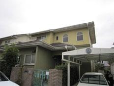 福岡市西区愛宕浜 外壁・屋根塗装工事施工例 施工前