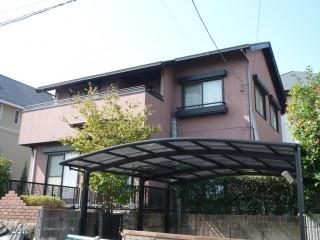 福岡市西区生松台 外壁・屋根塗装工事施工例 施工前