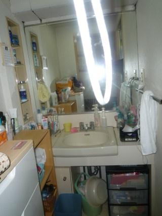 福岡市早良区室見 洗面所リフォーム施工例 施工前