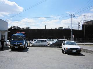 福岡市 JAF様 カーポート・駐車場施工前